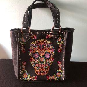 Montana West Sugar Skull Concealed Carry Handbag